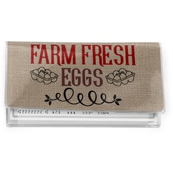 Farm Quotes Vinyl Checkbook Cover (Personalized)