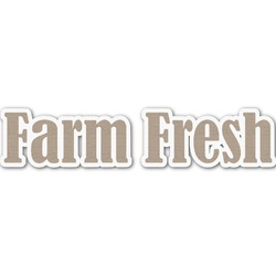 Farm Quotes Name/Text Decal - Custom Sized (Personalized)