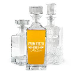 Farm Quotes Whiskey Decanter