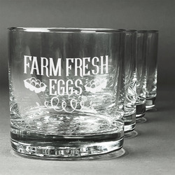 Farm Quotes Whiskey Glasses (Set of 4) (Personalized)