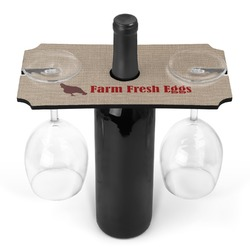 Farm Quotes Wine Bottle & Glass Holder (Personalized)