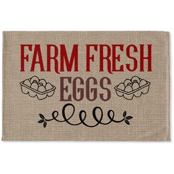 Farm Quotes Woven Mat (Personalized)
