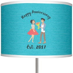 """Happy Anniversary 13"""" Drum Lamp Shade Polyester (Personalized)"""