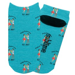 Happy Anniversary Adult Ankle Socks (Personalized)