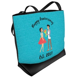 Happy Anniversary Beach Tote Bag (Personalized)
