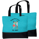 Happy Anniversary Beach Tote Bag (Personalized)