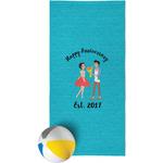Happy Anniversary Beach Towel (Personalized)