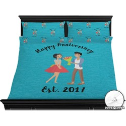 Happy Anniversary Duvet Cover Set - King (Personalized)