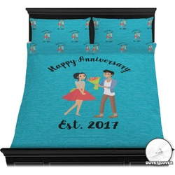 Happy Anniversary Duvet Cover Set (Personalized)