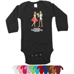 Happy Anniversary Long Sleeves Bodysuit - 12 Colors (Personalized)