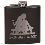 Happy Anniversary Black Flask Set (Personalized)