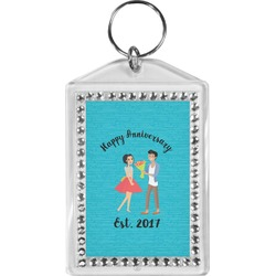 Happy Anniversary Bling Keychain (Personalized)