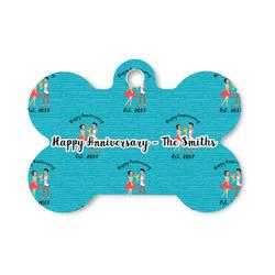 Happy Anniversary Bone Shaped Dog ID Tag (Personalized)
