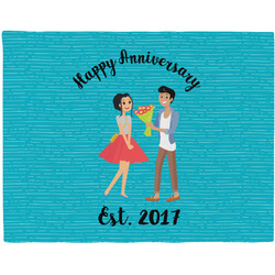 Happy Anniversary Placemat (Fabric) (Personalized)