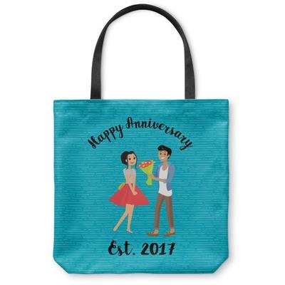 Happy Anniversary Canvas Tote Bag (Personalized)