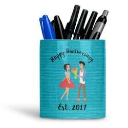 Happy Anniversary Ceramic Pen Holder