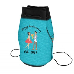 Happy Anniversary Neoprene Drawstring Backpack (Personalized)