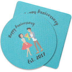 Happy Anniversary Rubber Backed Coaster (Personalized)