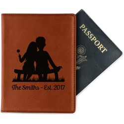 Happy Anniversary Leatherette Passport Holder (Personalized)
