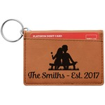 Happy Anniversary Leatherette Keychain ID Holder (Personalized)