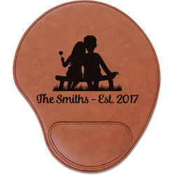 Happy Anniversary Leatherette Mouse Pad with Wrist Support (Personalized)