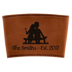 Happy Anniversary Leatherette Mug Sleeve (Personalized)