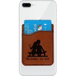 Happy Anniversary Leatherette Phone Wallet (Personalized)