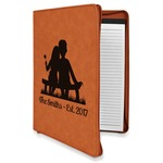 Happy Anniversary Leatherette Zipper Portfolio with Notepad (Personalized)