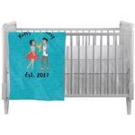 Happy Anniversary Crib Comforter / Quilt (Personalized)