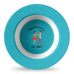 Happy Anniversary Plastic Bowl - Microwave Safe - Composite Polymer (Personalized)