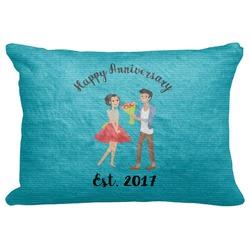 "Happy Anniversary Decorative Baby Pillowcase - 16""x12"" (Personalized)"