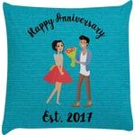 Happy Anniversary Decorative Pillow Case (Personalized)
