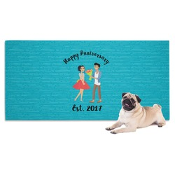 Happy Anniversary Dog Towel (Personalized)