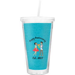 Happy Anniversary Double Wall Tumbler with Straw (Personalized)