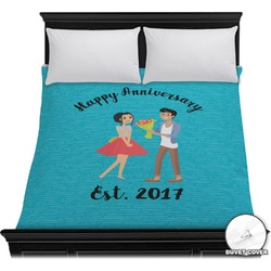 Happy Anniversary Duvet Cover (Personalized)