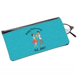 Happy Anniversary Genuine Leather Eyeglass Case (Personalized)