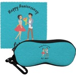 Happy Anniversary Eyeglass Case & Cloth (Personalized)