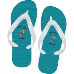 Happy Anniversary Flip Flops (Personalized)