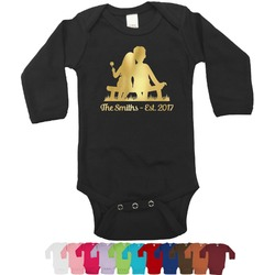 Happy Anniversary Foil Bodysuit - Long Sleeves - Gold, Silver or Rose Gold (Personalized)