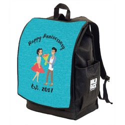 Happy Anniversary Backpack w/ Front Flap  (Personalized)