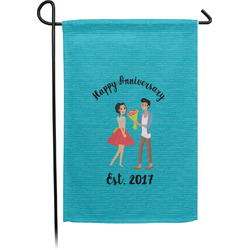 Happy Anniversary Garden Flag - Single or Double Sided (Personalized)