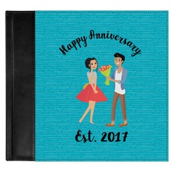 Happy Anniversary Genuine Leather Baby Memory Book (Personalized)