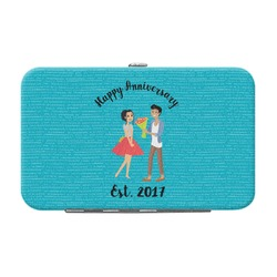 Happy Anniversary Genuine Leather Small Framed Wallet (Personalized)