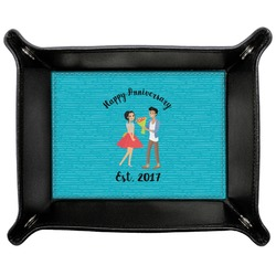 Happy Anniversary Genuine Leather Valet Tray (Personalized)