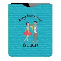 Happy Anniversary Genuine Leather iPad Sleeve (Personalized)