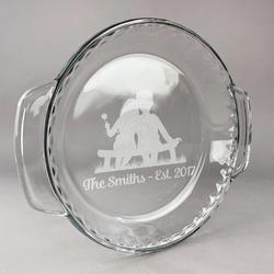 Happy Anniversary Glass Pie Dish - 9.5in Round (Personalized)