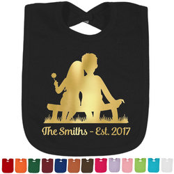 Happy Anniversary Foil Baby Bibs (Personalized)