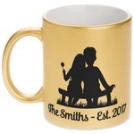 Happy Anniversary Gold Mug (Personalized)