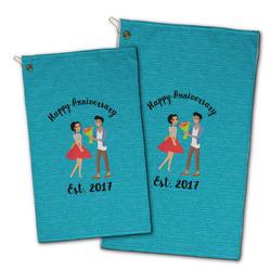 Happy Anniversary Golf Towel - Full Print w/ Couple's Names