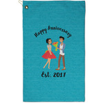 Happy Anniversary Golf Towel - Full Print - Small w/ Couple's Names